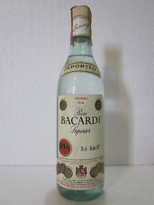 Ron Bacardi Superior Carta Blanca 75cl 40% 1970s