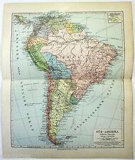 Original German Map of South America in 1900