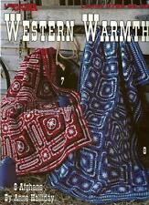 Western Warmth Afghans Anne Halliday Crochet Instruction Patterns NEW