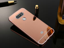 Luxury Ultra-thin Aluminum Metal Bumper Case Mirror Back Cover For LG Model S001