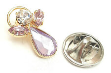 Message Angel Birthstone Alexandrite Crystal Pin Badge