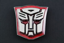 TRANSFORMERS BELT BUCKLE METAL AUTO BOT & DECEPTICON