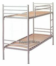 METAL BUNK BED WHITE WOODEN SLATS SIZE CM 80x190 (80x203x150 overall)