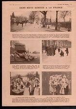 WWI Metz Maréchal Pétain Statue de Ney/Fanions Alsace Lorraine 1918 ILLUSTRATION