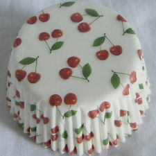 50 pcs CK44 - red cherry white cupcake liners paper cup muffin cases