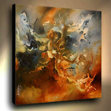Large Modern Art Painting  Abstract Contemporary Mix Lang cert. original deco