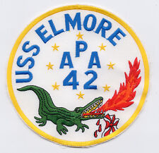 USS Elmore APA 42 - Gator with Flames from Mouth BC Patch Cat. No. B842