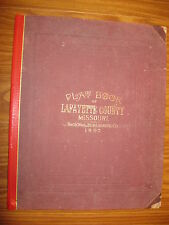 LARGE 1897 LAFAYETTE COUNTY MISSOURI ATLAS PLAT BOOK