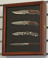Small Knife Shadow Box / Display Case with glass door, Wall Mountable, KC02-WALN