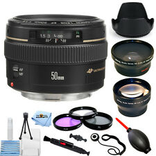Canon EF 50mm f/1.4 USM Autofocus Lens (Black)!! PRO BUNDLE BRAND NEW!!