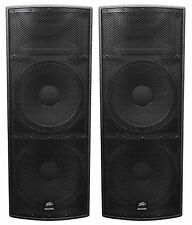 "2 Peavey SP 4 Dual 15"" 4000w Passive Black Widow Biampable 3-Way PA Speakers SP4"