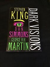 Stephen King Dark Visions Rare Signed Autograph Britis 1st Edition Hardback Book