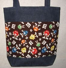 NEW Large Denim Tote Bag Handmade/w M&M'S® Characters Licensed Fabric
