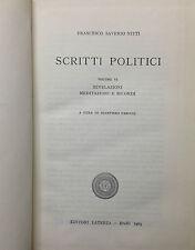 (Politica) SCRITTI POLITICI  Di F. Saverio Nitti  Bari 1963