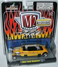 M2 Machines Stretch Rods 1932 FORD ROADSTER -yellow/graphics- 1:64 Dave Chang