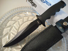 United Edge Marine Combat Fighter Bowie Dagger Knife Leather Sheath Black UC8015