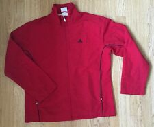 VINTAGE RED RETRO ADIDAS 90s GRUNGE SPORTS COAT URBAN JACKET UK 14