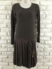 Authentic Cop Copine Size 2 US 4 / Small Brown Thermal Long Sleeve Dress EC