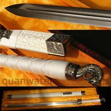 "42"" HANDMADE CHINESE TRADITIONAL HAN SWORD(汉剑)WITH TIGER HEAD CARVING"