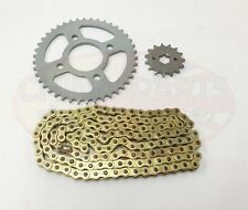 JIANSHE JS125-6A Heavy Duty Chain and Sprocket Kit GOLD