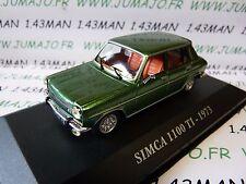 Coche 1/43 IXO altaya Coches de antaño : Simca 1100 TI 1973