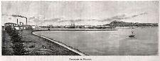 MILAZZO: Panorama. Messina. Sicilia. Trinacria. Stampa Antica. Certificato. 1892