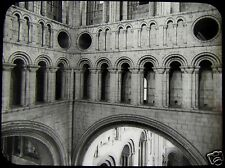 Glass Magic Lantern Slide NORWICH CATHEDRAL TOWER INTERIOR C1900 PHOTO ENGLAND