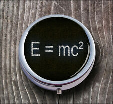 SCIENCES THEORY OF RELATIVITY PILL BOX ROUND METAL -v3th6