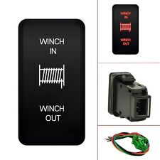 12V Momentary Push Switch WINCH IN/OUT Red LED Light For Toyota 4Runner Tocoma
