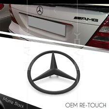 MATTE BLACK OEM 3 POINT REAR LOGO STAR EMBLEM FOR MERCEDES BENZ E CLASS W211 AMG