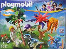 Playmobil Super 4 6687 Lost Island mit Alien und Raptor Agentin Dallas NEU