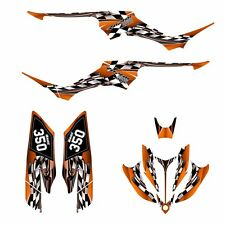 Yamaha Raptor 350 graphics racing decal kit N02500 Orange Free Custom Service