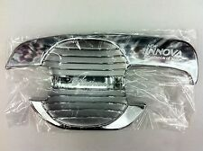 4 DOOR CHROME HANDLE BOWL INSERT COVER FOR TOYOTA INNOVA 2010-2015 V.2