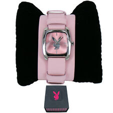 Genuine Playboy Pink Cuff Strap Ladies Watch PB0128PK