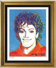 "Andy Warhol Signed/Hand-Numbered Ltd Ed ""Michael Jackson"" Litho Print (unframed)"