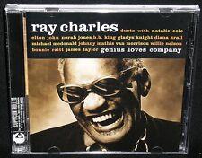 RAY CHARLES - GENIUS LOVES COMPANY - 12-TRACK EU IMPORT/24p GLOSS BKLT/EX+