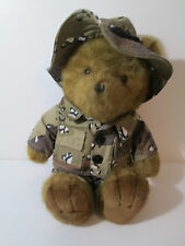 "Teddy Bear 18"" Plush in Army Camoflauge Outfit  J Stuff Associates"