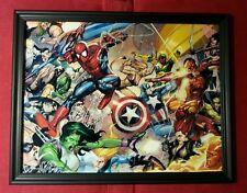 Spider-Man Avengers X-Men Team Framed Art Print DC Marvel Comic Book Gift