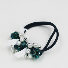 Pearl Acrylic Beads Elastic Hair Accessories Band Ring Rope Ties Ponytail Holder