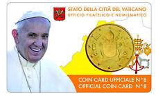 Vatican coin card n°8 - 2017 ( pièce de 50cts )