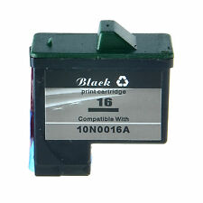 1PK Black Cartridge Compatible For Lexmark 16 Ink 10N0016 Z615 X72 X74 X75 Z513