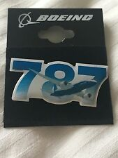 Boeing 787 Dreamliner Sky Pin Badge Button