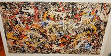 "JACKSON POLLOCK ""CONVERGENCE"" HUGE COLOR ABSTRACT POSTER WITH COP"