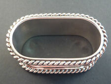 CONTINENTAL 835grade SILVER ROPE EDGE OVAL NAPKIN RING