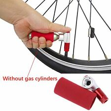 Bike Bicycle Cycling Tire Air CO2 Inflator Head Pump Valve&Insulated Red Valve