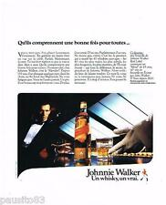 PUBLICITE ADVERTISING 105  1986  Le whisky  JOHNNIE WALKER RED LABEL 2