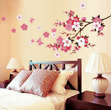 Rural Style Butterfly Flower Vine Vinyl Home Room Mural Wall Sticker Decal DIY