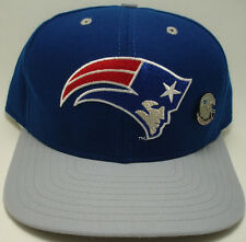 NEW ENGLAND  PATRIOTS /w PIN New Era Classic NFL Vtg 90s Snapback Hat Cap