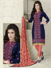 Radiant Cotton Embroidered Salwar Suit Dress Material D.NO NKT1130