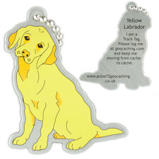 Yellow Labrador Dog Track Tag For Geocaching (Travel Bug Geocoin)